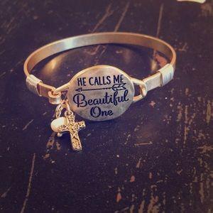 Jewelry - HE CALLS ME BEAUTIFUL ONE Religous Bracelet